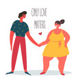 only love matters man and woman are holding hands vector image vector image