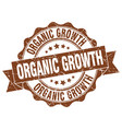 organic growth stamp sign seal vector image vector image