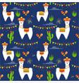 pattern with llama alpaca vector image vector image