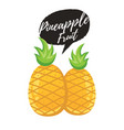 pineapple tropical sweet summer fruit vector image