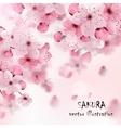 Pink Cherry Sakura Print vector image vector image