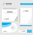 pop logo calendar template cd cover diary and usb vector image vector image