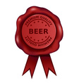 Premium Quality Beer Wax Seal vector image vector image