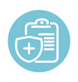 report medical shield protection and health care vector image