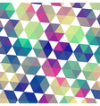 Retro pattern of geometric shapes Triangle vector image vector image