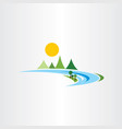river and mountains logo icon landscape symbol vector image