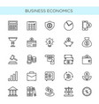 set of thin line icons vector image vector image