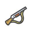 shotgun multiple weapon icon cartoon vector image