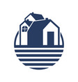 simple group land house vector image