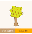 Single garden fruit tree vector image
