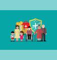 social welfare for children woman senior vector image vector image