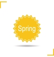 Spring sticker icon vector image vector image