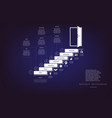 steps up ladders and doorway concept or vector image vector image