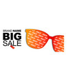 sunglasses sale banner with colored vector image
