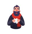 the man has a cold flu ill sick concept vector image vector image