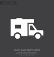 trailer premium icon vector image vector image