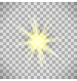 Transparent background star light vector image