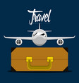 travel bag and an airplane icon travel concept vector image vector image