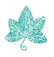 Tribal tattoo Ivy leaf vector image