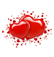Two Red Heart vector image vector image