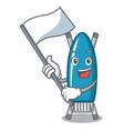 with flag iron board mascot cartoon vector image vector image