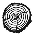 wood cut icon simple style vector image vector image