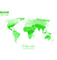 World watercolor map isolated on white background vector image