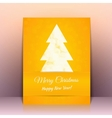 yellow greeting card background with christmas vector image