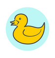Yellow minimalistic duck icon