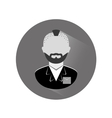 grayscale arrested man icon image vector image