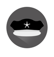 grayscale hat police icon image vector image