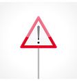 Caution traffic sign vector image