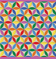 3d seamless abstract geometric pattern rainbow vector image