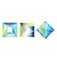 abstract geometric shapes collection faceted vector image