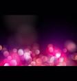 abstract pink circle blurred light bokeh lights vector image