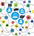 Abstract social media scheme vector image vector image