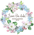 Apple Blossom with Forget-me-not Border vector image vector image