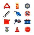 Auto transport motorist icons vector image vector image