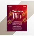 awesome christmas party flyer layout template vector image vector image