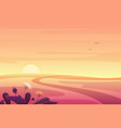 beautiful fantasy sunset or sunrise summer autumn vector image vector image