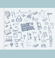 big set of school supplies vector image