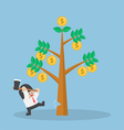Businessman cutting tree of money vector image vector image