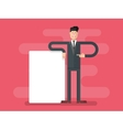 Businessman with advertising vector image vector image