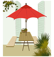 Cafe Table Background vector image vector image