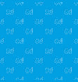 car towing truck pattern seamless blue vector image