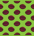 coffee beans seamless pattern on bright green vector image vector image