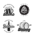 Creative beer set of logos design with mug bottle vector image
