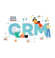crm concept business vector image vector image