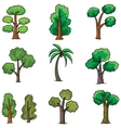 Doodle of tree different set ornament vector image vector image