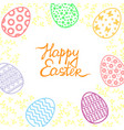 easter card with egg and palm tree branches vector image